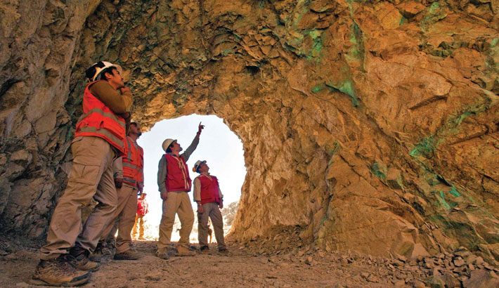 Workers of the Next Mineral mining company inspect the Comahue copper mine in Antofagasta, Chile. Chile's economic activity grew a record of 20.1 per cent recently, boosted by the adaptation of the productive sectors to the pandemic, the Central Bank informed on Monday.
