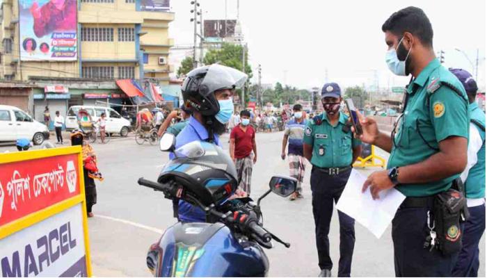 Lockdown breaches in Dhaka: 425 more held; over Tk13 lakh fined