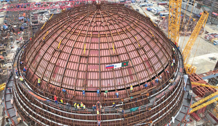 Rooppur nuke plant's dome installation completed