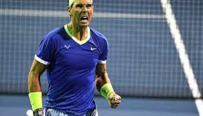 Nadal battles to victory in return from two-month layoff