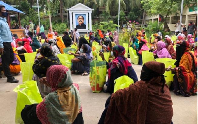 350 workers get food assistance in Narayanganj