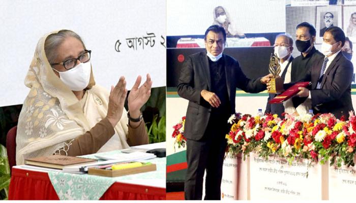 PM hands over Sheikh Kamal NSC Award