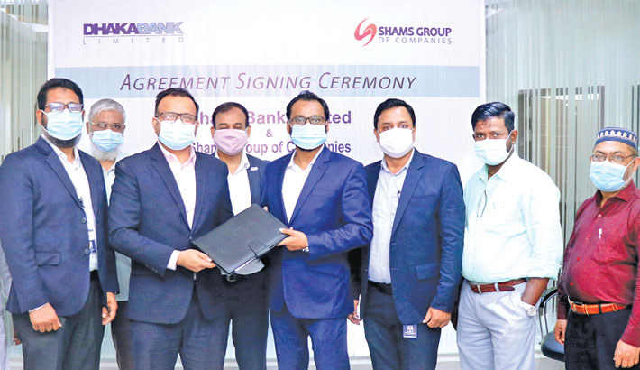 Dhaka Bank, Shams Group ink deal