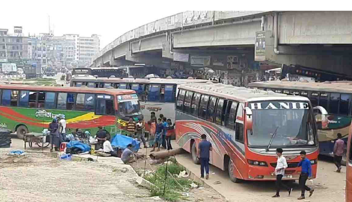 40 long-route buses seized in Gazipur