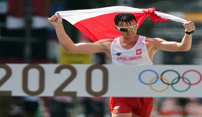 Poland's Tomala wins Olympic 50km race walk in only his second finish