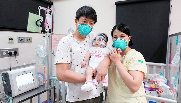 'Smallest baby at birth' home after 13 months in hospital