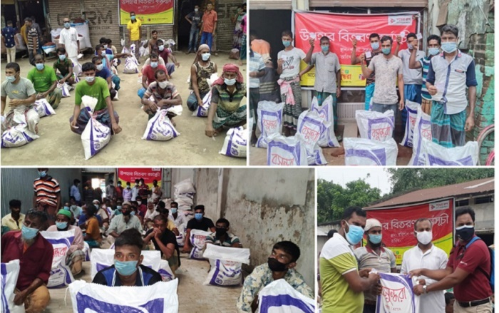 Bashundhara Group stands by the people: BFBIL, BMF continues to provide relief gift for jobless workers