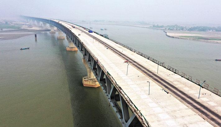 Padma Bridge work progressing fast