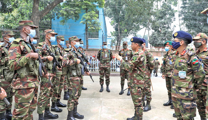 CAS inspects army patrol in Tangail