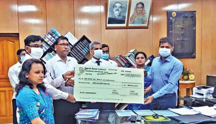 Sonali Bank donates Tk 3.38m to Dhaka DC