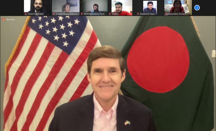 Miller greets Bangladeshi students graduated in English Access Progrmme