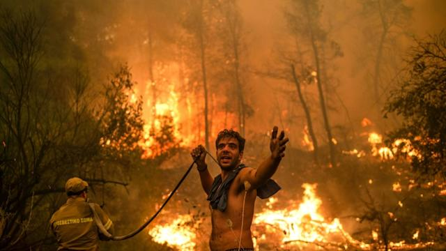 Greece wildfires 'slowly coming under control': mayor