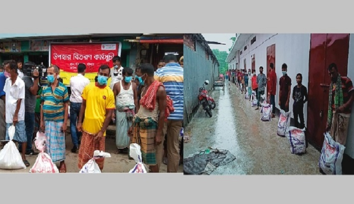 Bashundhara Group continues to serve humanity: BFBIL, BMF provide relief gift for industrial workers