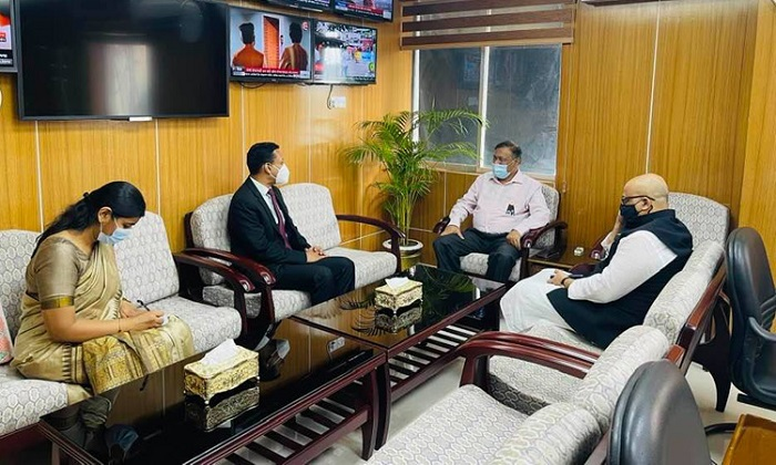 Indian deputy high commissioner calls on Hasan