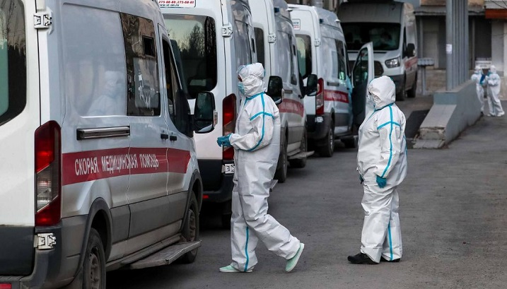 Russia reports record virus deaths third day in a row