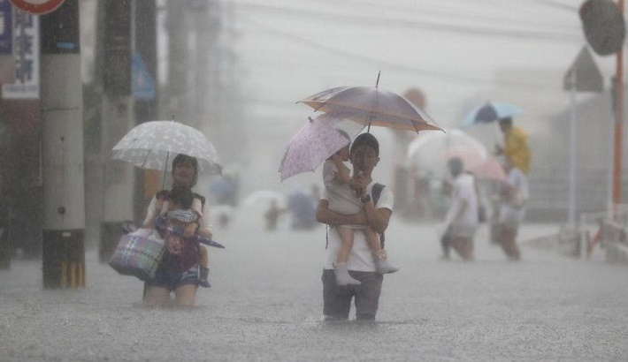 Over a million told to shelter amid Japan rain