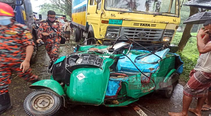 Six killed as truck hits autorickshaw in Habiganj