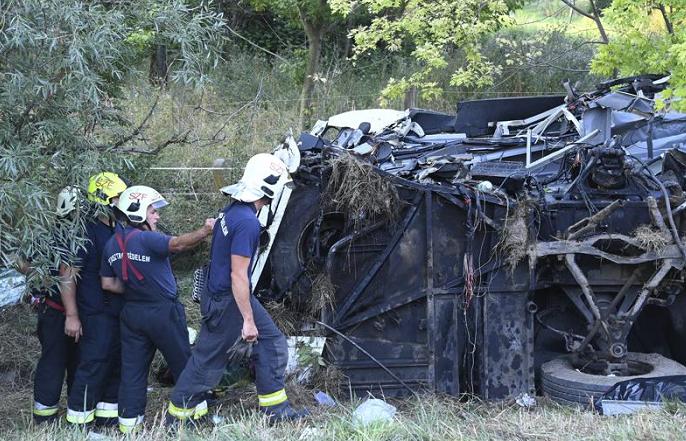 Hungary bus crash kills eight, injures dozens