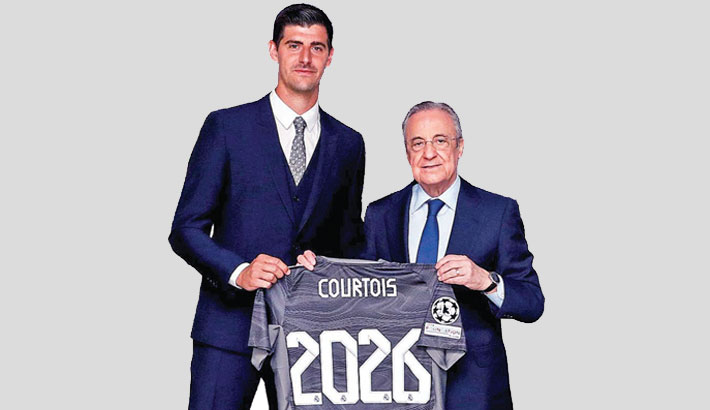 Courtois extends Real contract to 2026