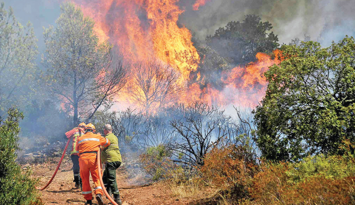 Thousands evacuated as wildfire spreads in France