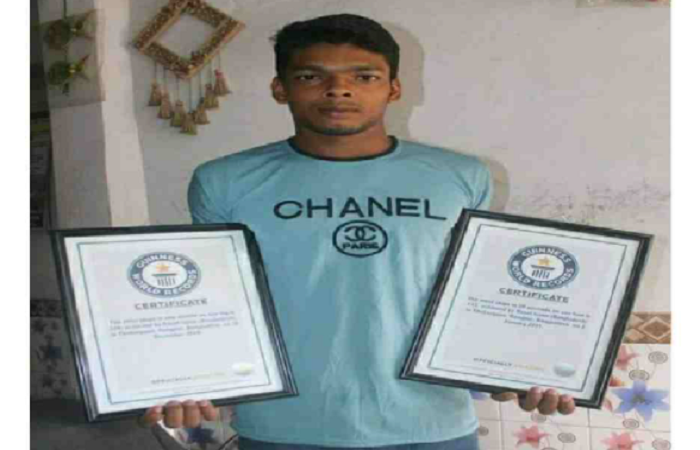 Thakurgaon youth jumps rope to enter Guinness Book