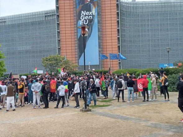 Brussels: Afghan Diaspora Protest Taliban Takeover, Seeks EU's Intervention