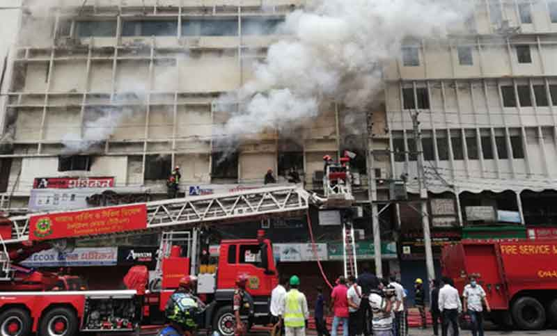 Banani 6-storey building fire comes under control