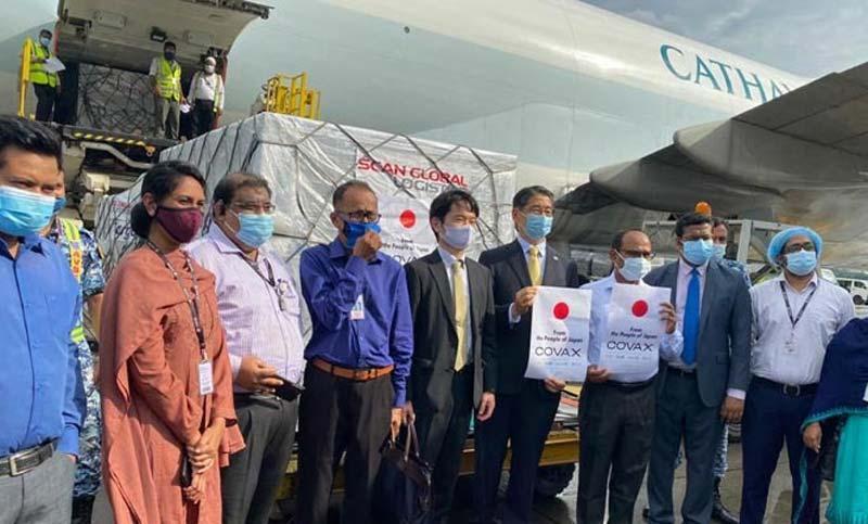 7,81,440 doses of AstraZeneca vaccine from Japan arrive in Dhaka