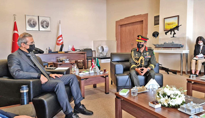 Army chief calls on Turkish defence industries minister in Turkey