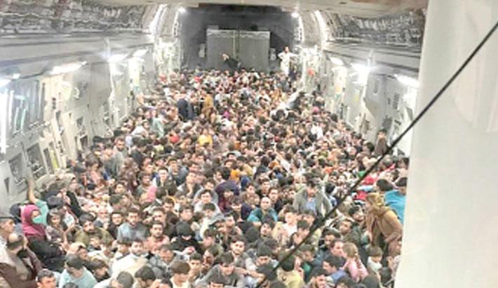 Afghan woman gives birth on evacuation plane