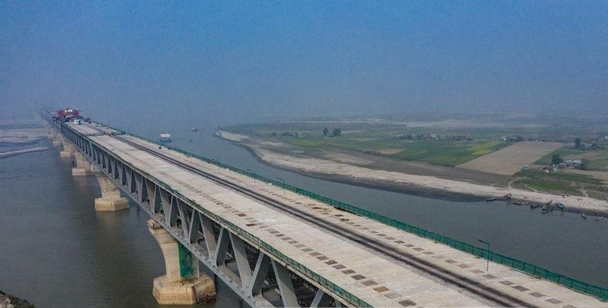 Dream nears fulfilment: All roadway slabs of Padma Bridge installed