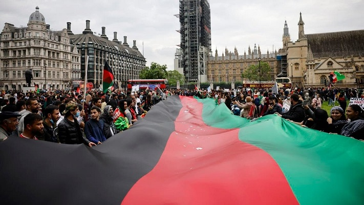 'Huge protest' rally in London against Taliban's Afghanistan takeover