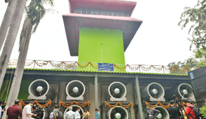 New Delhi opens first 'smog tower'
