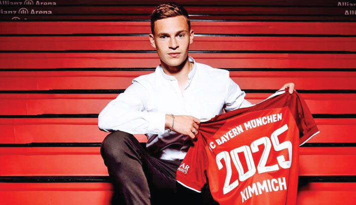 Kimmich extends Bayern contract to 2025