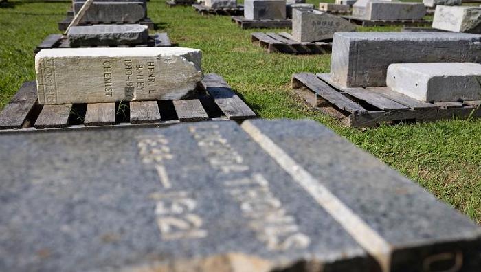 Headstones in historic Black cemetery were desecrated