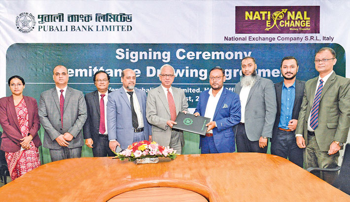 Pubali Bank signs deal with Nat'l Exchange Co
