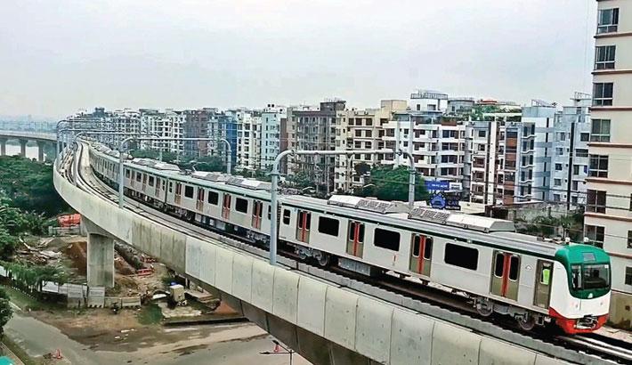 Dream metrorail hits track for trial run