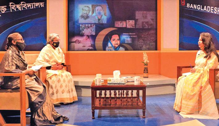 Talk show on ideology of Bangamata held at BOU