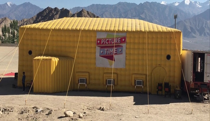 Ladakh gets its first highest mobile theatre in world at altitude of 11,562 ft