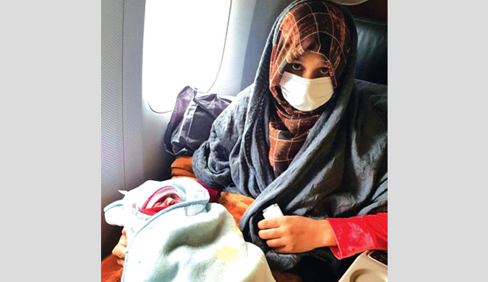 Afghan heading to UK gives birth at 30,000 feet