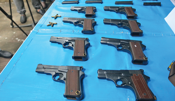 Five illegal arms traders arrested