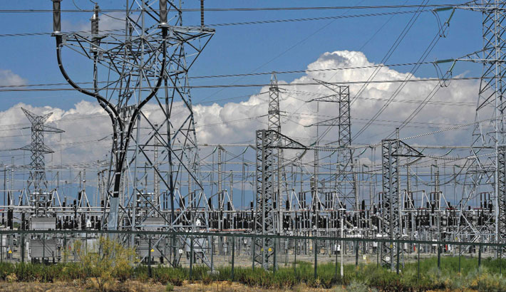 This picture shows a power substation of electricity distribution company Red Electrica de Espana in San Sebastian de los Reyes, close to Madrid on Friday.