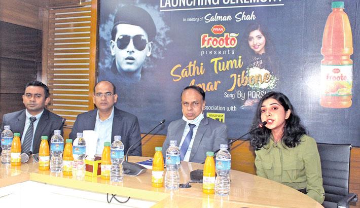 PRAN Frooto sponsors remake song 'Sathi Tumi Amar Jibone'