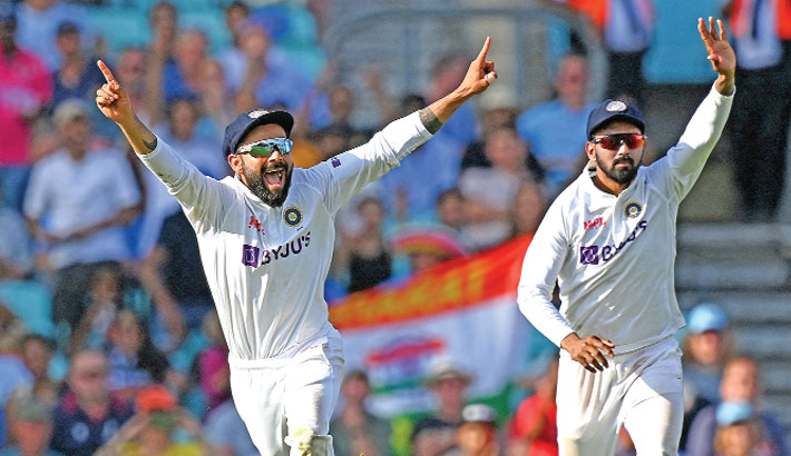 India overwhelmed England by 157 runs to win the fourth Test at the Oval on Monday and take a 2-1 lead in the five-match series. England set 368 to win, were bowled out for 210 after tea on the last day with fast bowler Umesh Yadav taking 3-60.  AFP Photo
