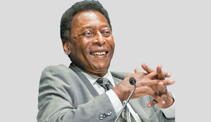 Pele recovering after tumor operation