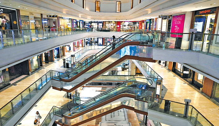 A general view of a shopping mall is pictured in Mumbai on Tuesday.