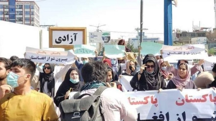 Hundreds chanting slogans against Pakistan in Kabul