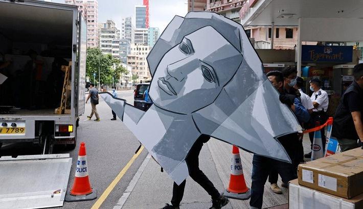 Hong Kong police raid Tiananmen Square museum