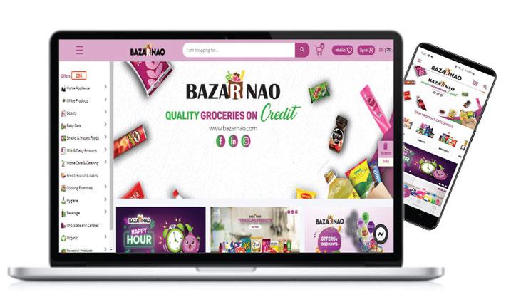 Bazarnao groceries on credit