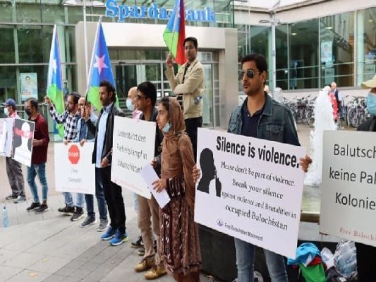 Germany: Free Balochistan Movement holds protest against Pakistan in Hanover